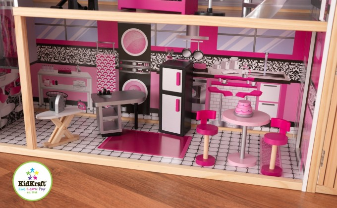 Lovely Kidkraft Majestic Mansion Dollhouse 65252 Made Of Wood In Pink Theme For Kids Room Furniture Ideas