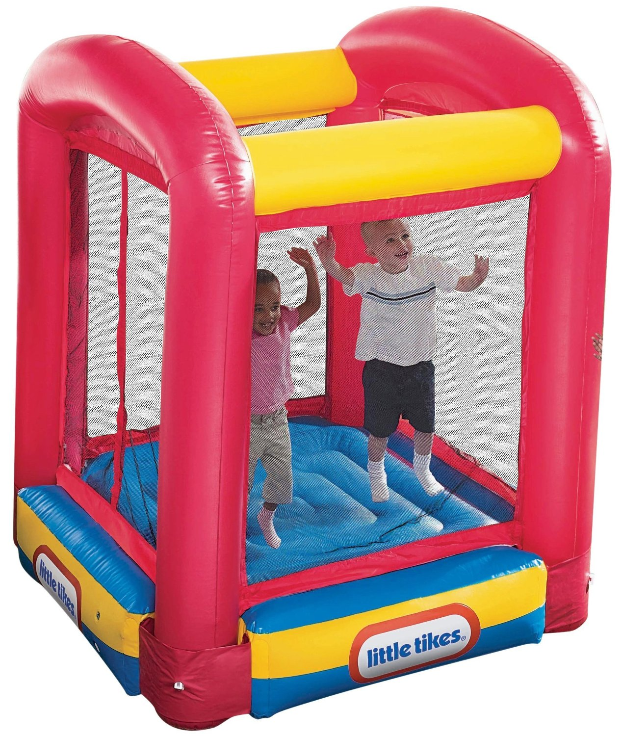 lovely little tikes bounce house made of caoutchouc in yellow blue and red for play yard ideas
