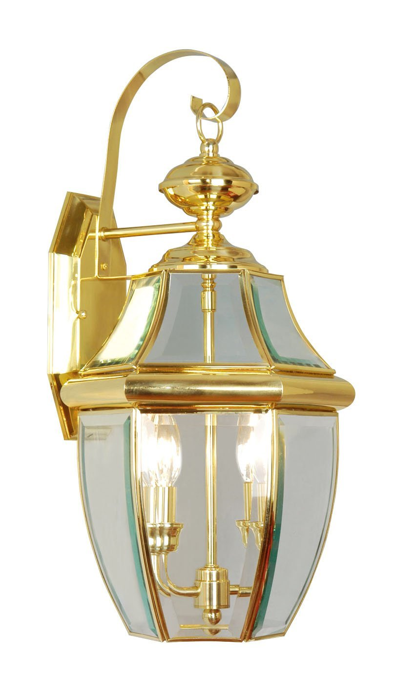 lovely Livex Lighting 2251 02 Monterey 2 Light Outdoor Polished Brass for home lighting ideas