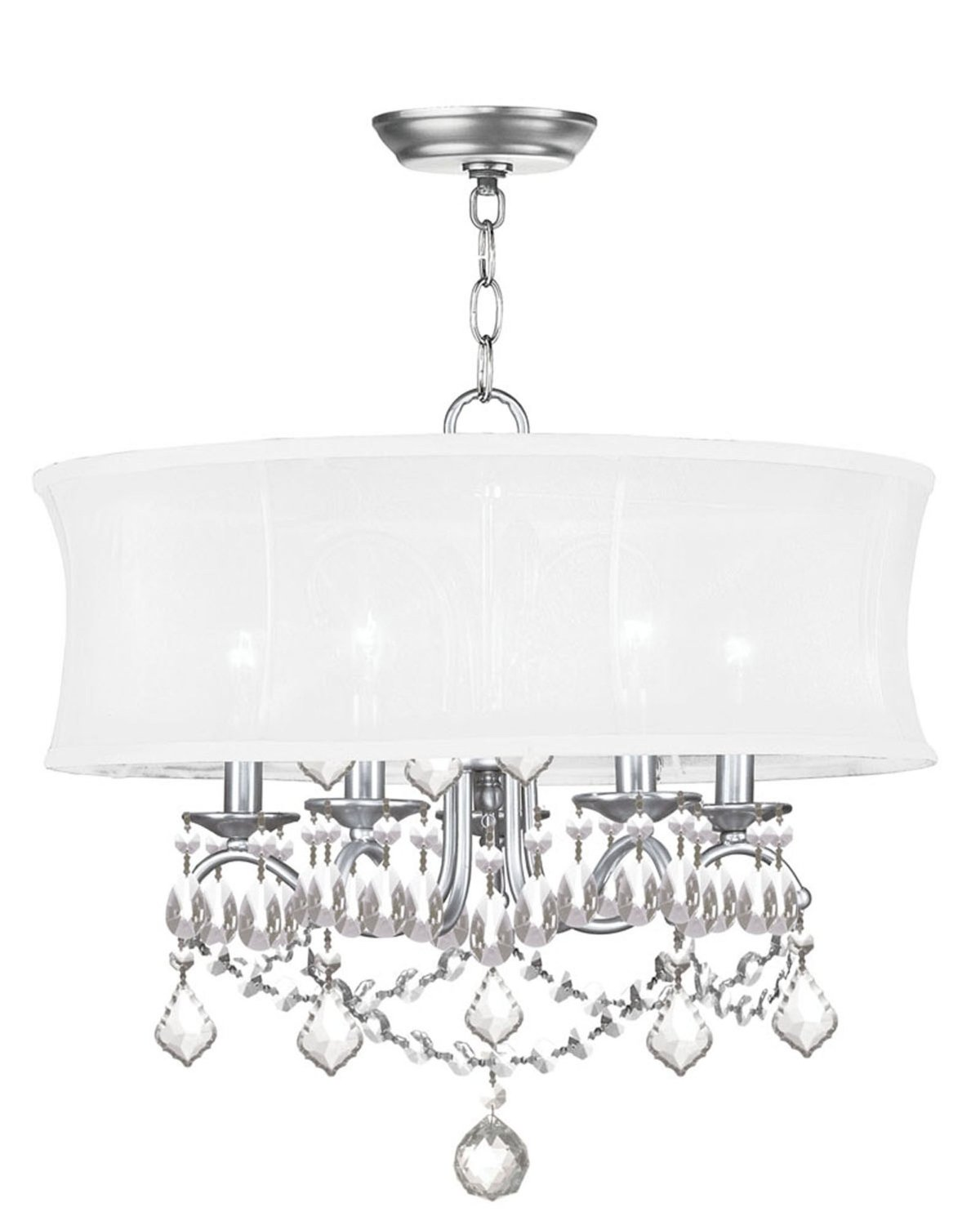 Lovely Livex Lighting 6305 91 Newcastle Brushed Nickel Chandelier For Home Lighting Ideas