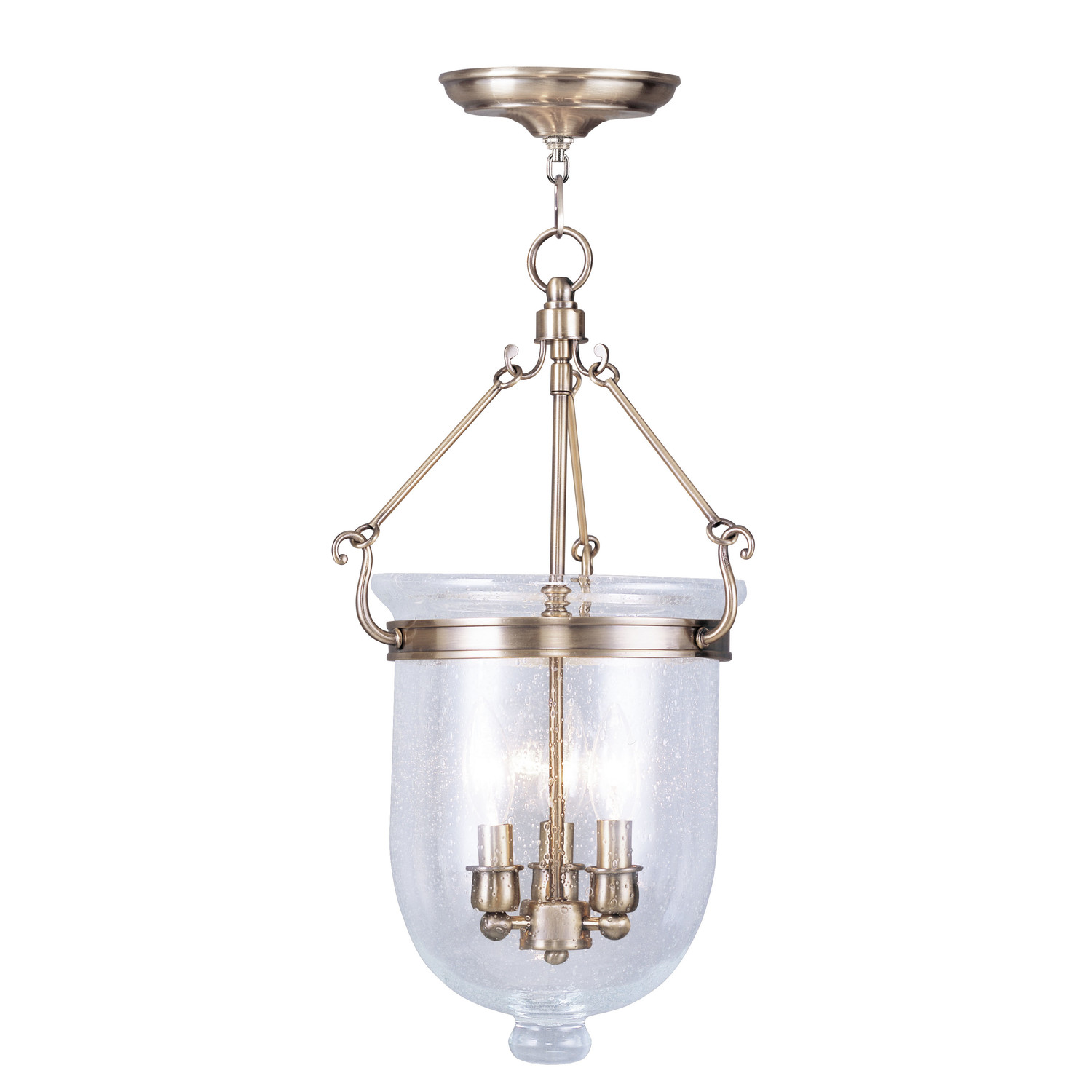 Lovely Livex Lighting Jefferson Foyer Pendant With White Shade For Home Lighting Ideas
