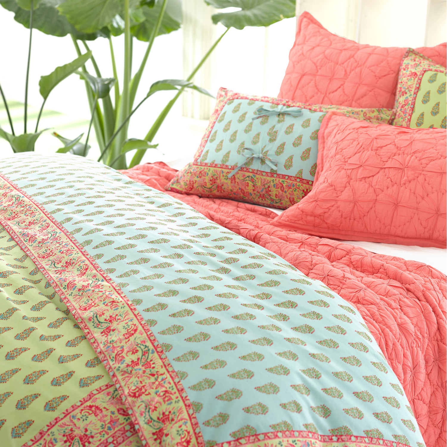 Lovely Pine Cone Hill Bedding For Interesting Bed Ideas: Lovely Pine Cone Hill Annete Duvet Cover In Colorful Design For Lovely Bedding Ideas