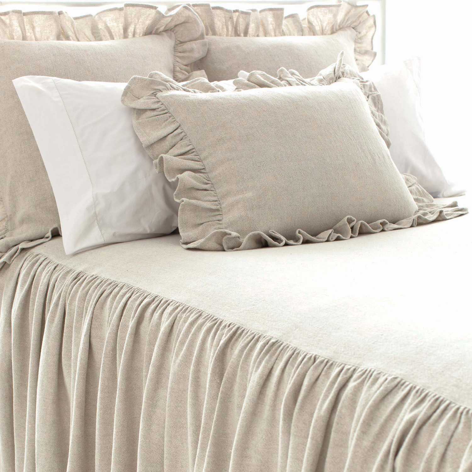 Lovely Pine Cone Hill Bedding For Interesting Bed Ideas: Lovely Pine Cone Hill Bedding In Ivory For Bed Ideas