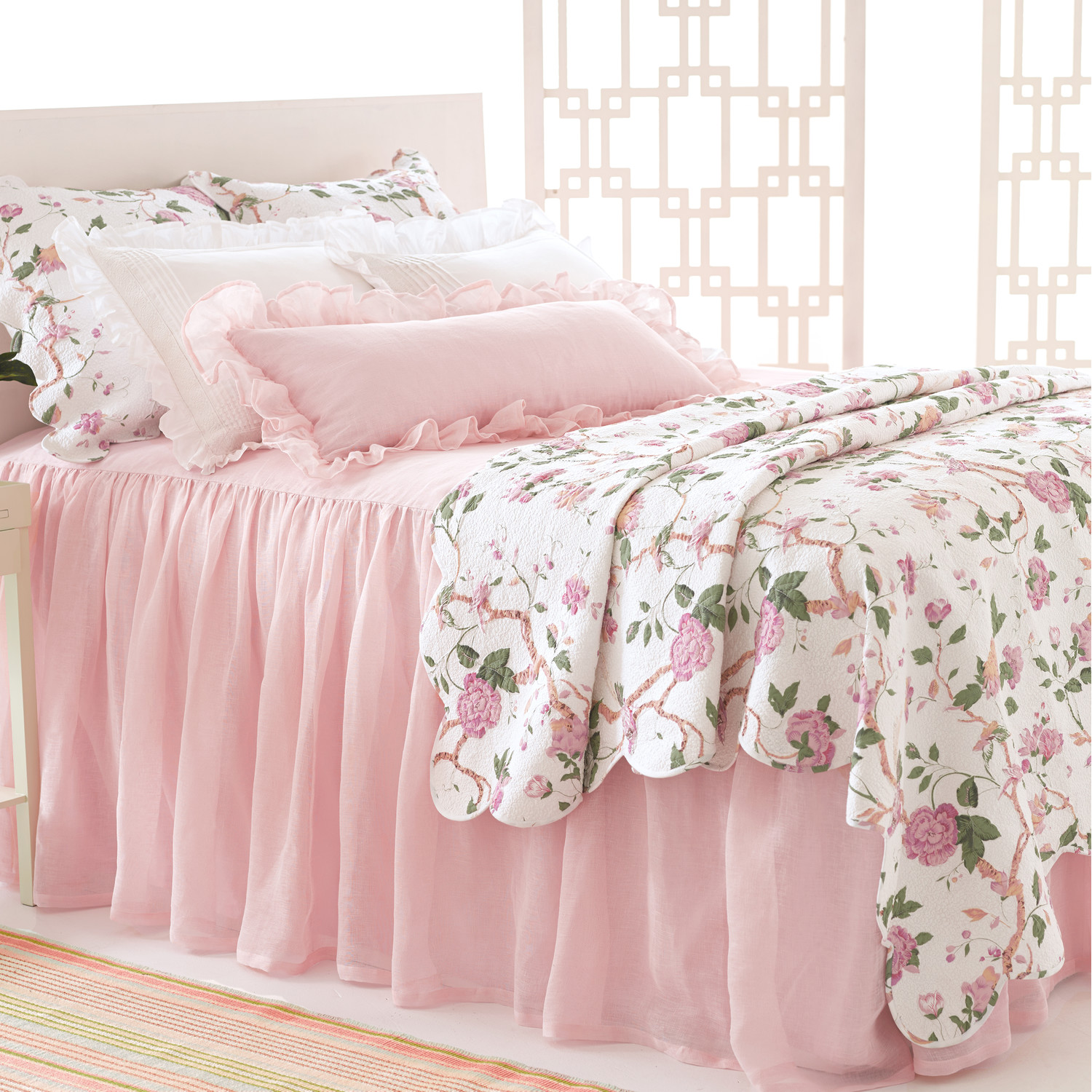 lovely pine cone hill bedding in pink white floral pattern for bed ideas