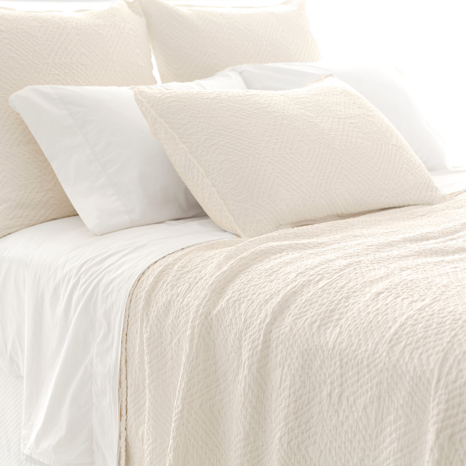Lovely Pine Cone Hill Kerala Matelasse Coverlet In White For Lovely Bedding Ideas