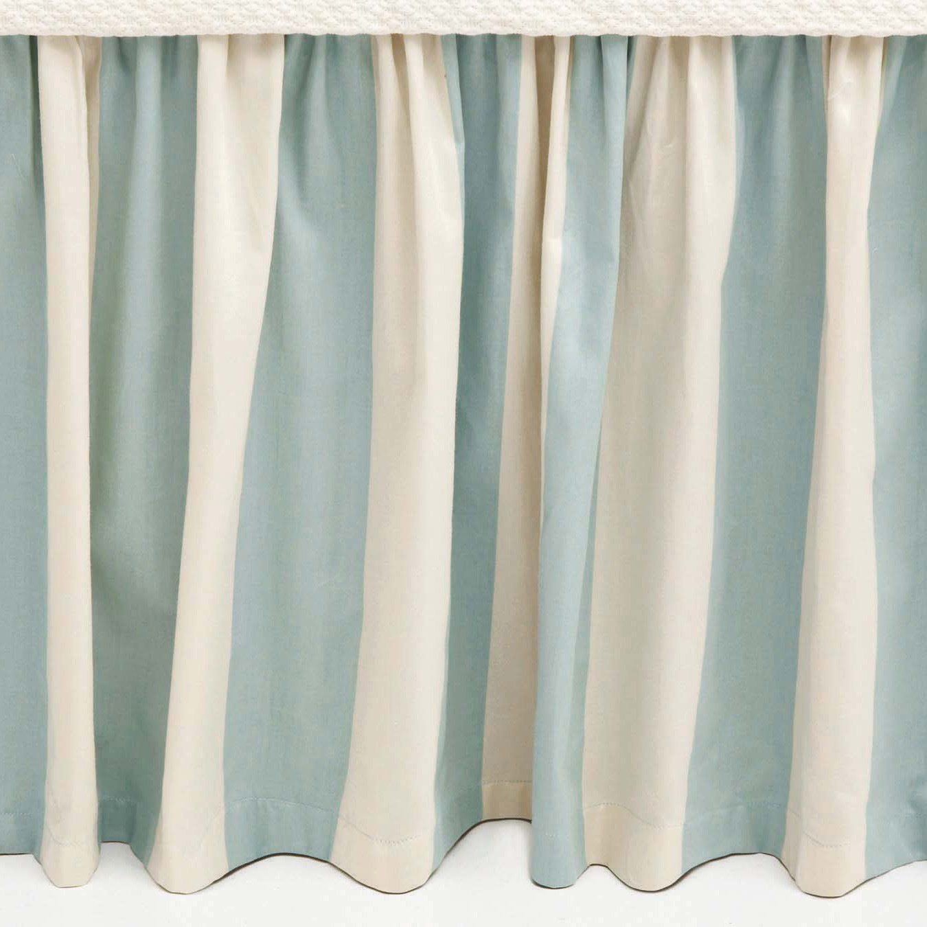 Lovely Pine Cone Hill Madeline Stripe Bedskirt For Charming Bed Ideas