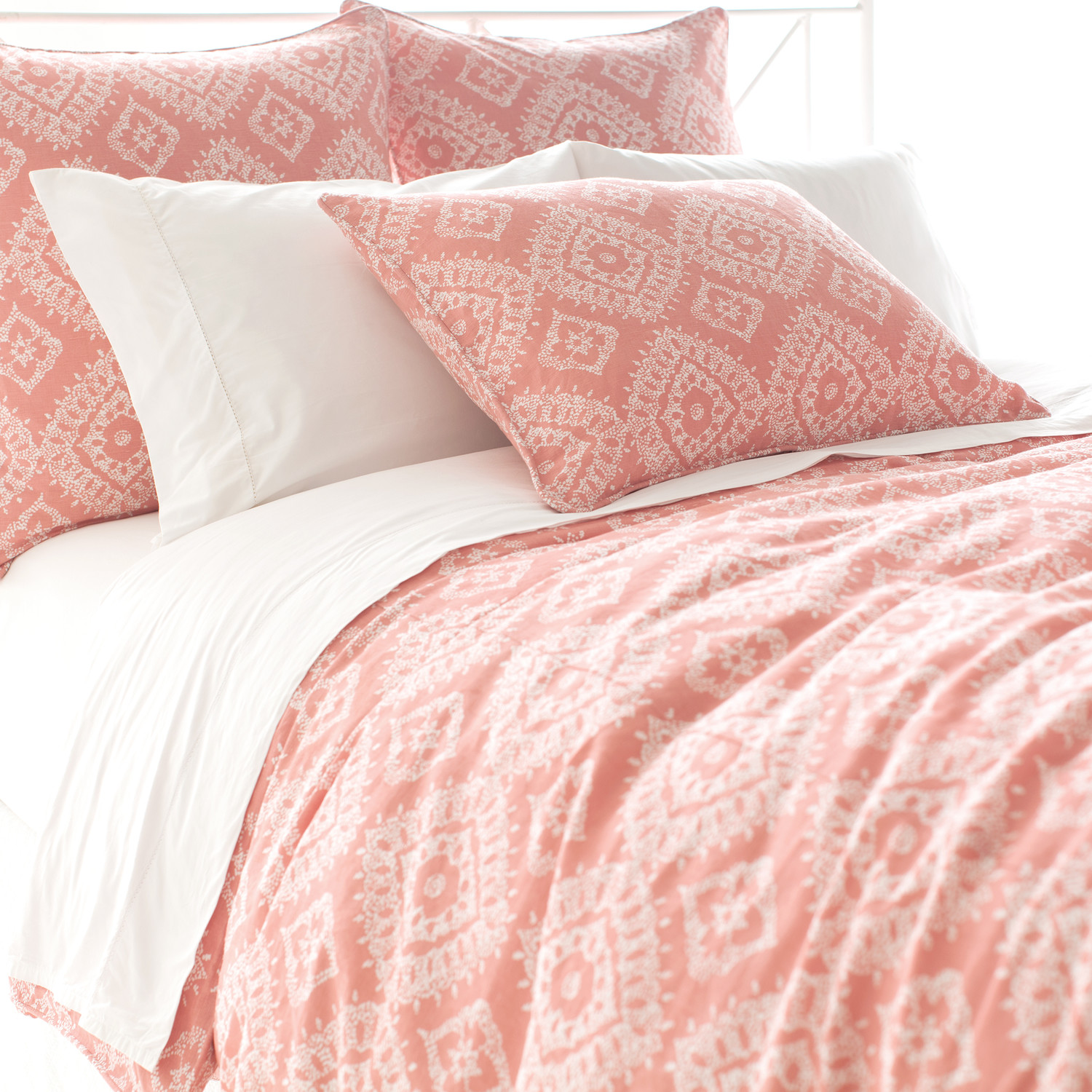 Lovely Pine Cone Hill Bedding For Interesting Bed Ideas: Lovely Pine Cone Hill Ramala Duvet Cover In Pink And White Theme For Bed Ideas
