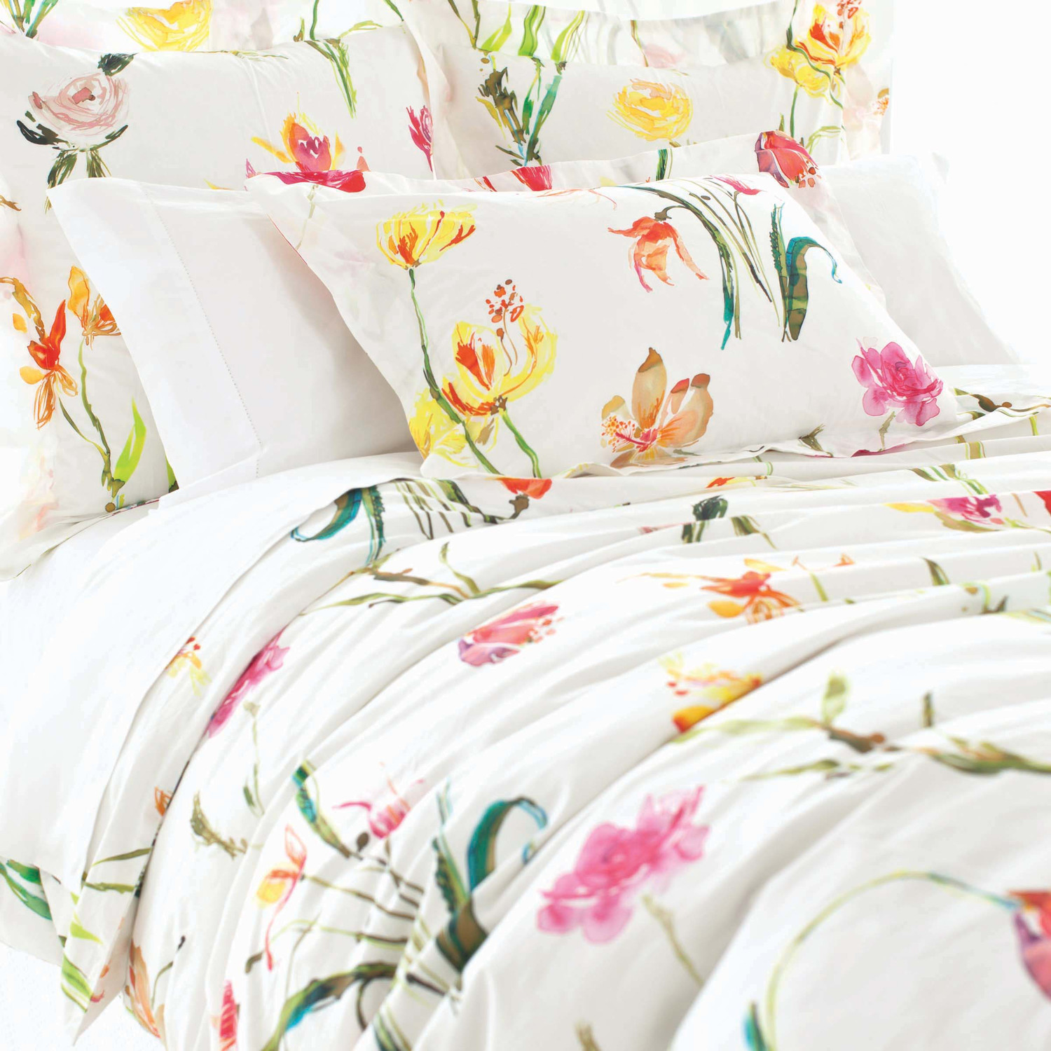 Lovely Pine Cone Hill Watercolor Cotton Duvet Cover For Lovely Bed Ideas
