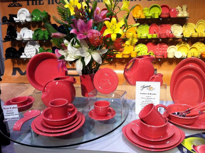 Lovely Red Place Setting By Fiestaware For Dinnerware Ideas