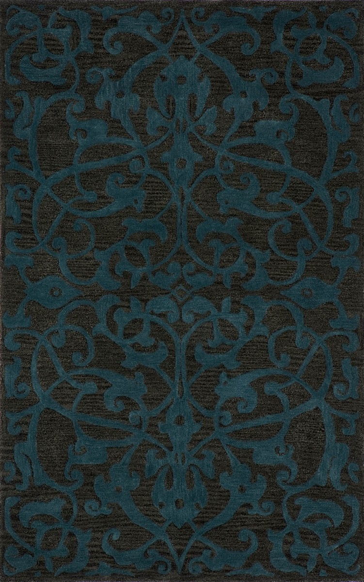 lovely Rugs Satara SR 07 Teal Rug with floral pattern in brown and blue by momeni rugs for floor decor ideas
