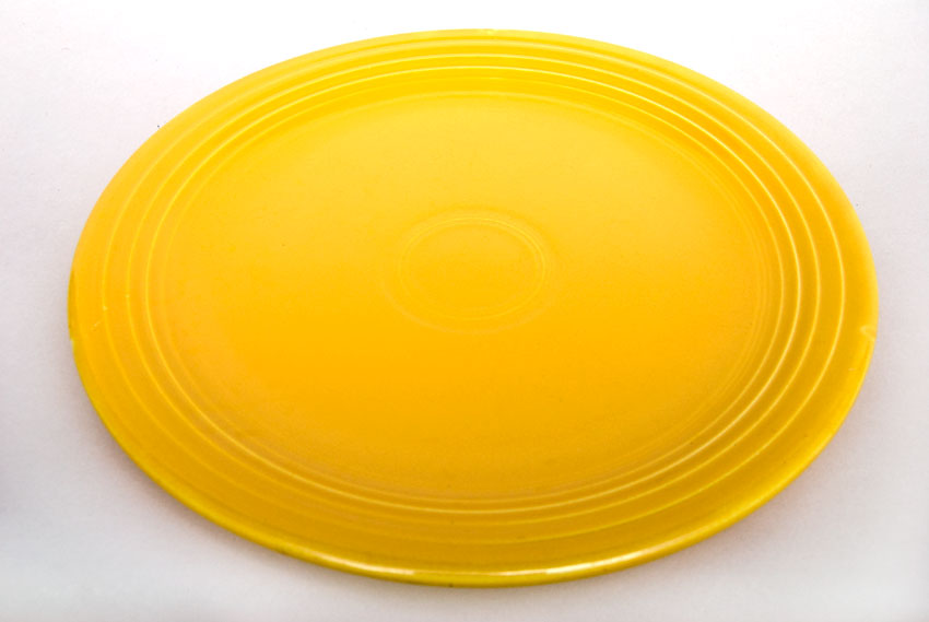 Lovely Vintage Fiestaware Yellow 13 Inch Chop Plate For Dinnerware Ideas