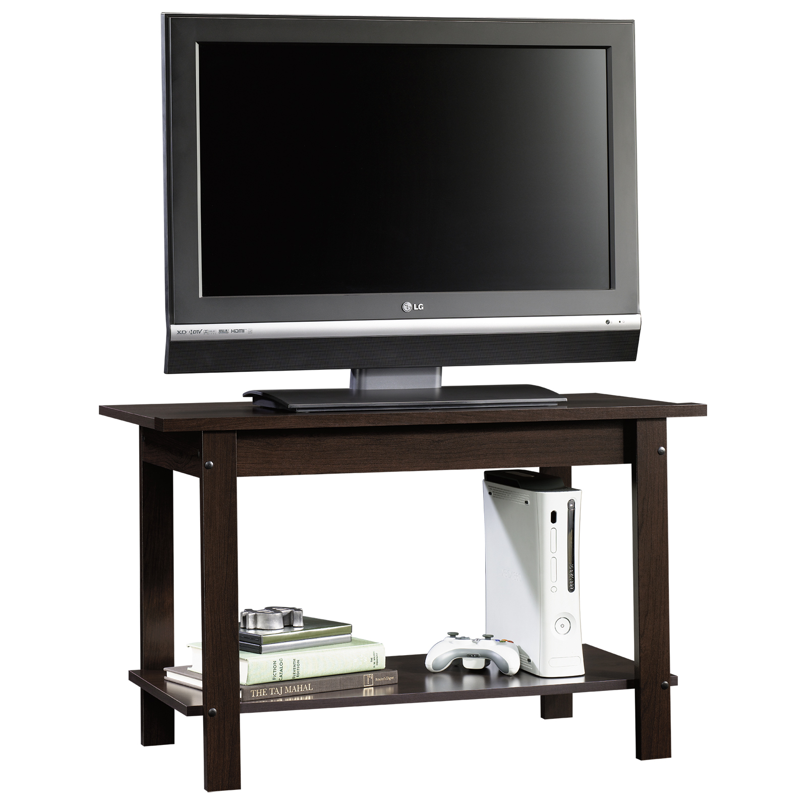 lovely wooden tv stand in brown by sauder furniture for home furniture ideas
