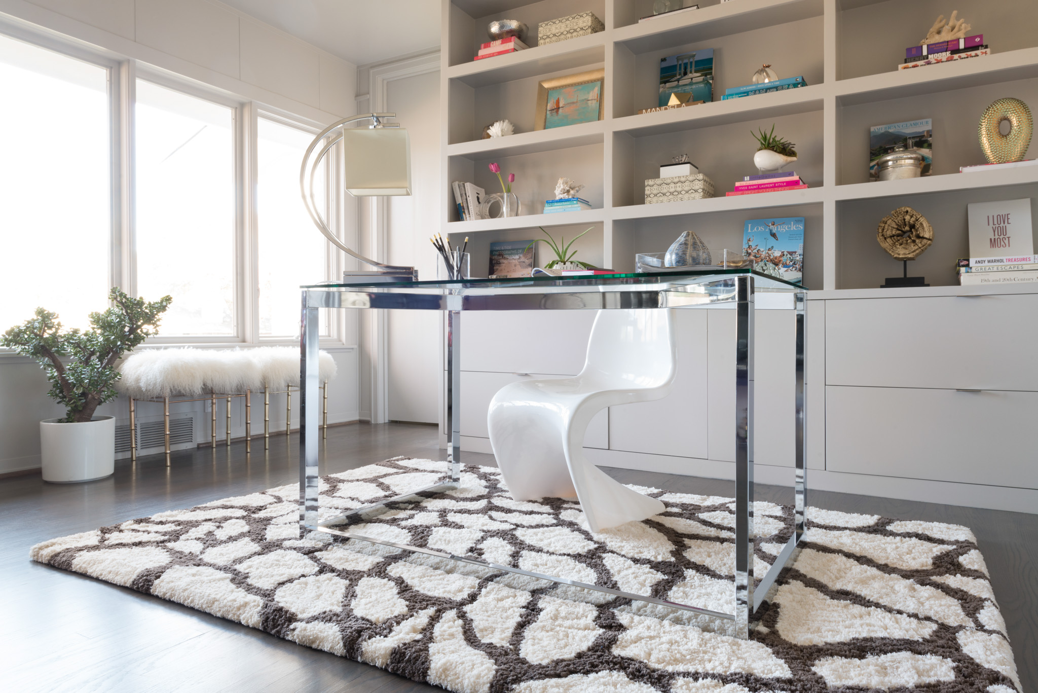 mesmerizing loloi rugs on wooden floor plus desk and wooden rack for home office decor ideas