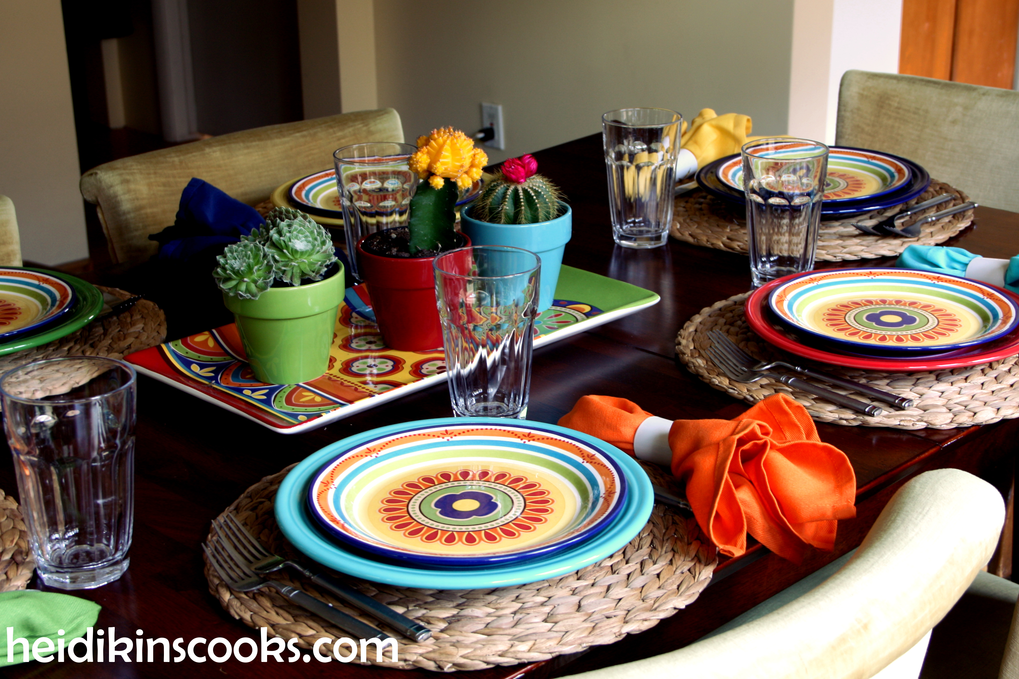 mexicali pier fiestaware tablescape for dinner ideas