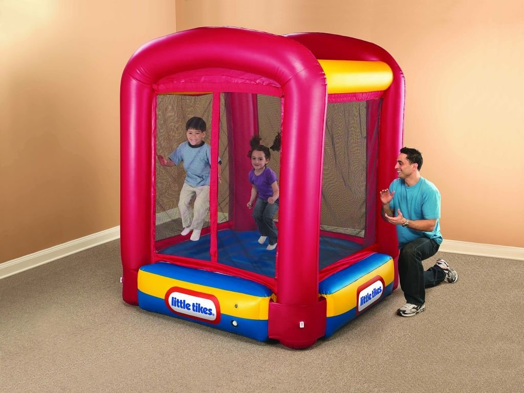 Fancy Little Tikes Bounce House For Play Yard Ideas: Mini Little Tikes Bounce House Made Of Caoutchouc With Curtain For Kids Play Room Ideas