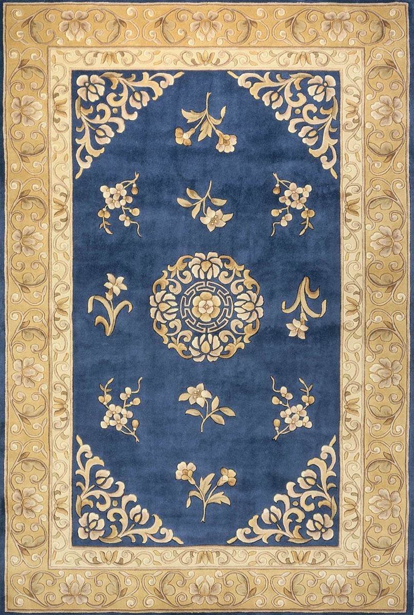 Momeni Rugs Harmony HA 23 Royal Blue Rug For Floor Decor Ideas