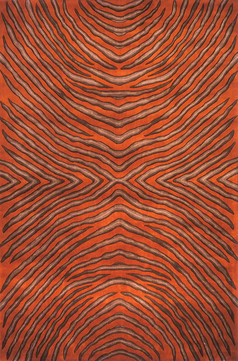 Momeni Rugs New Wave NW 93 Rust Rug in orange for floor decor ideas