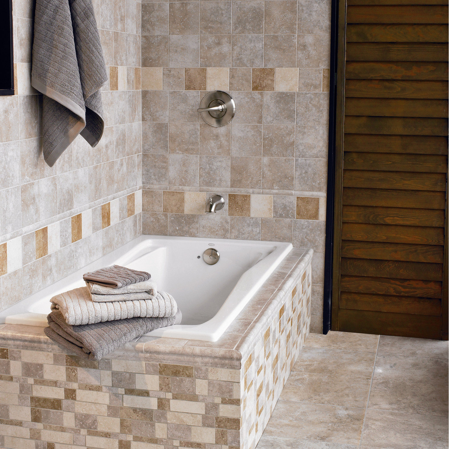 Montreaux Ceramic Floor Tile in Gris by interceramic tile plus buthup for bathroom decor ideas