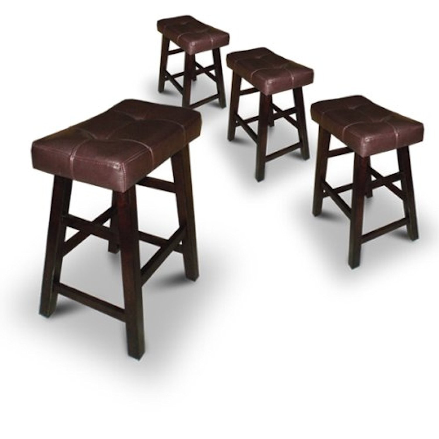 Noble House Rodriguez Backless cymax bar stools in Hazelnut for home furniture ideas