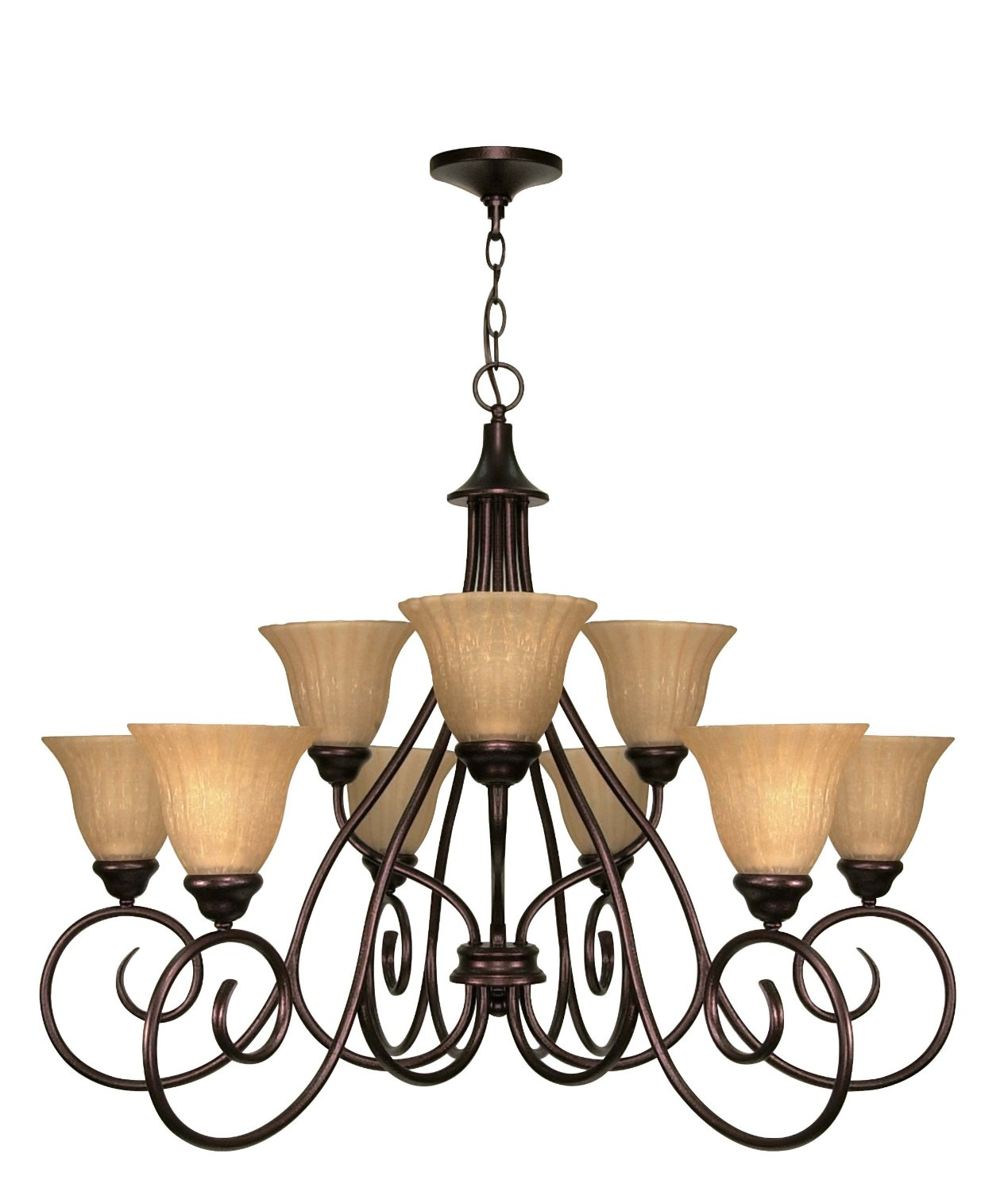 nuvo lighting 3 Tier 12 Light Chandelier with Champagne Glass for home lighting ideas