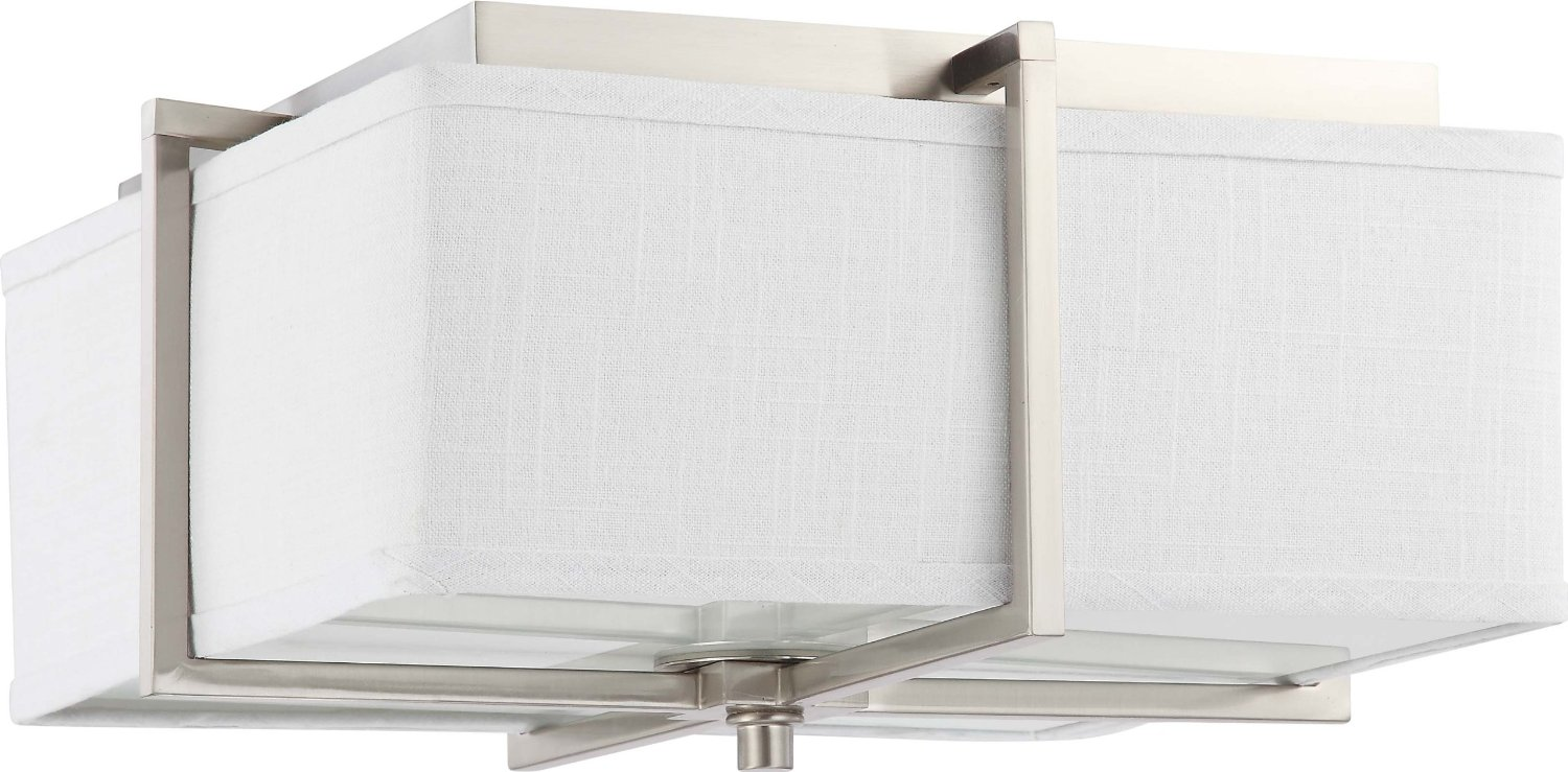 Nuvo Lighting Four Light Logan Large Square Flush For Home Lighting Ideas