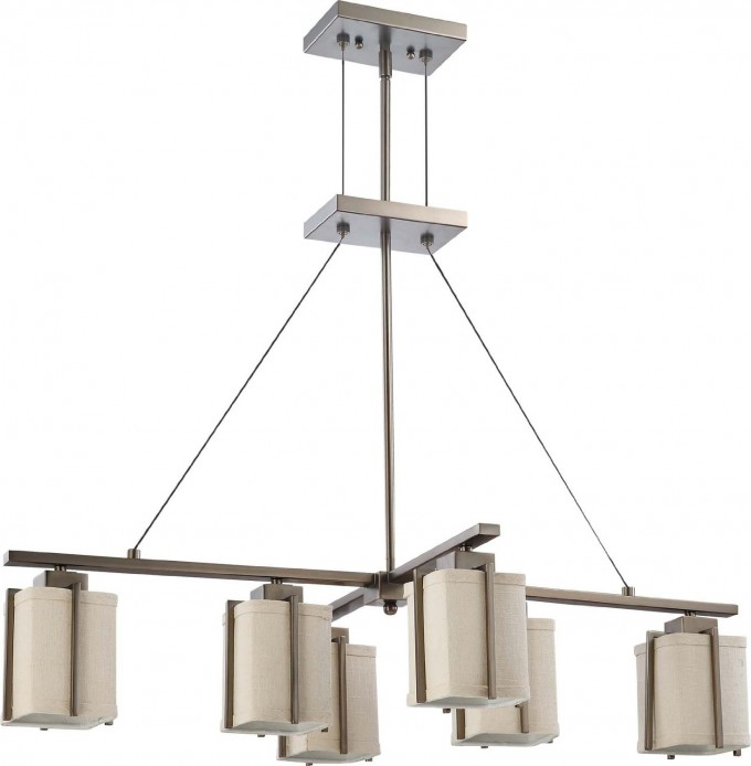 Nuvo Lighting Six Light Logan Island Pendant With Slate For Home Lighting Ideas