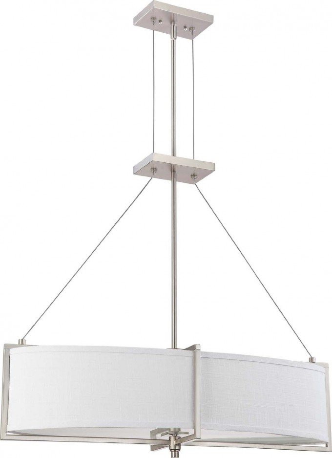 Nuvo Lighting Six Light Portia Oval Pendant With Slate Shade For Home Lighting Ideas
