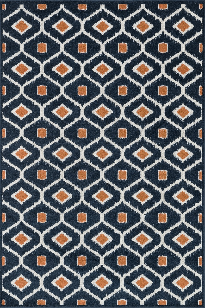 oasis navy orange contemporary rug by loloi rugs for floor cover ideas