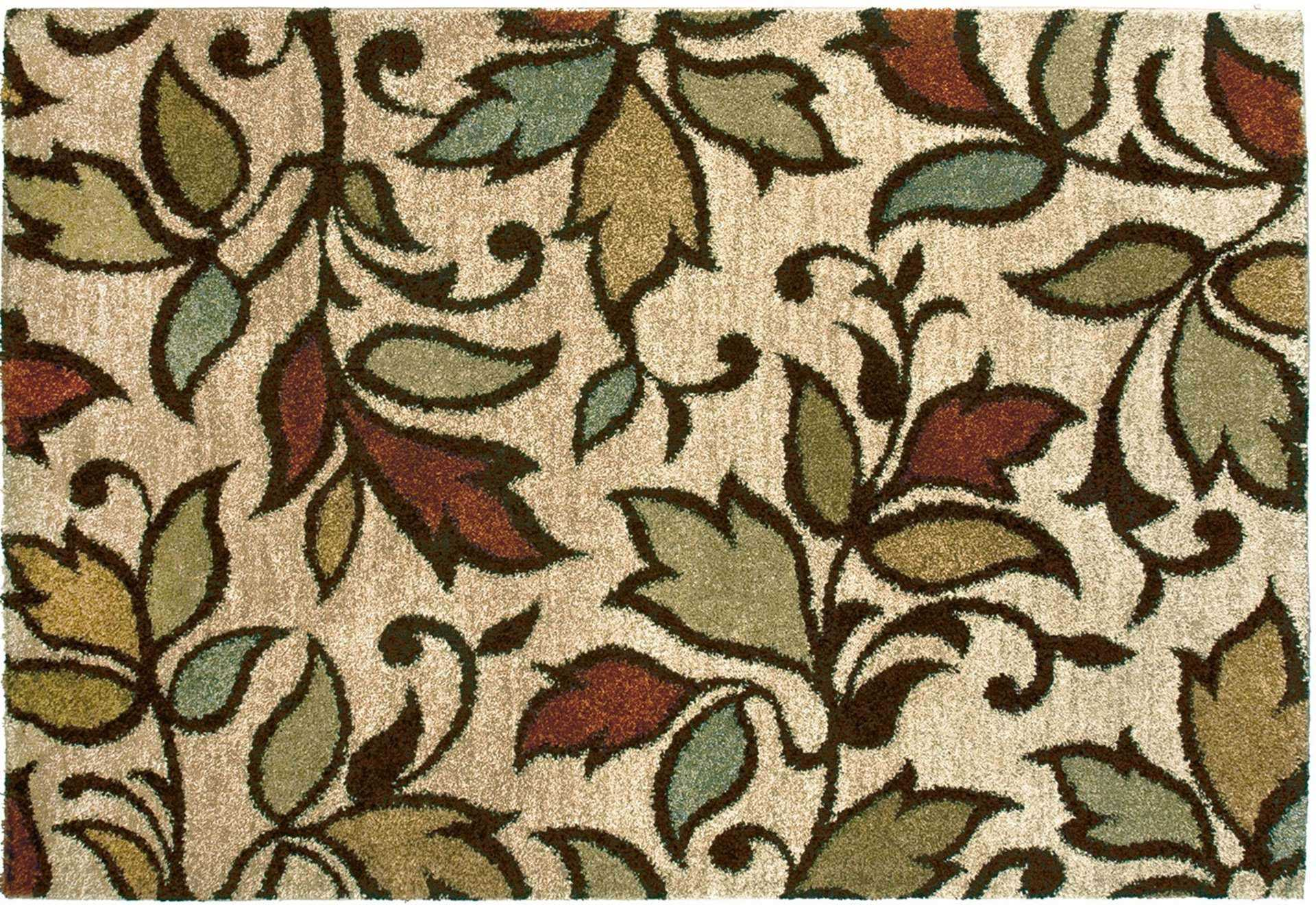 Orian Rugs with leaves pattern for floor decor ideas
