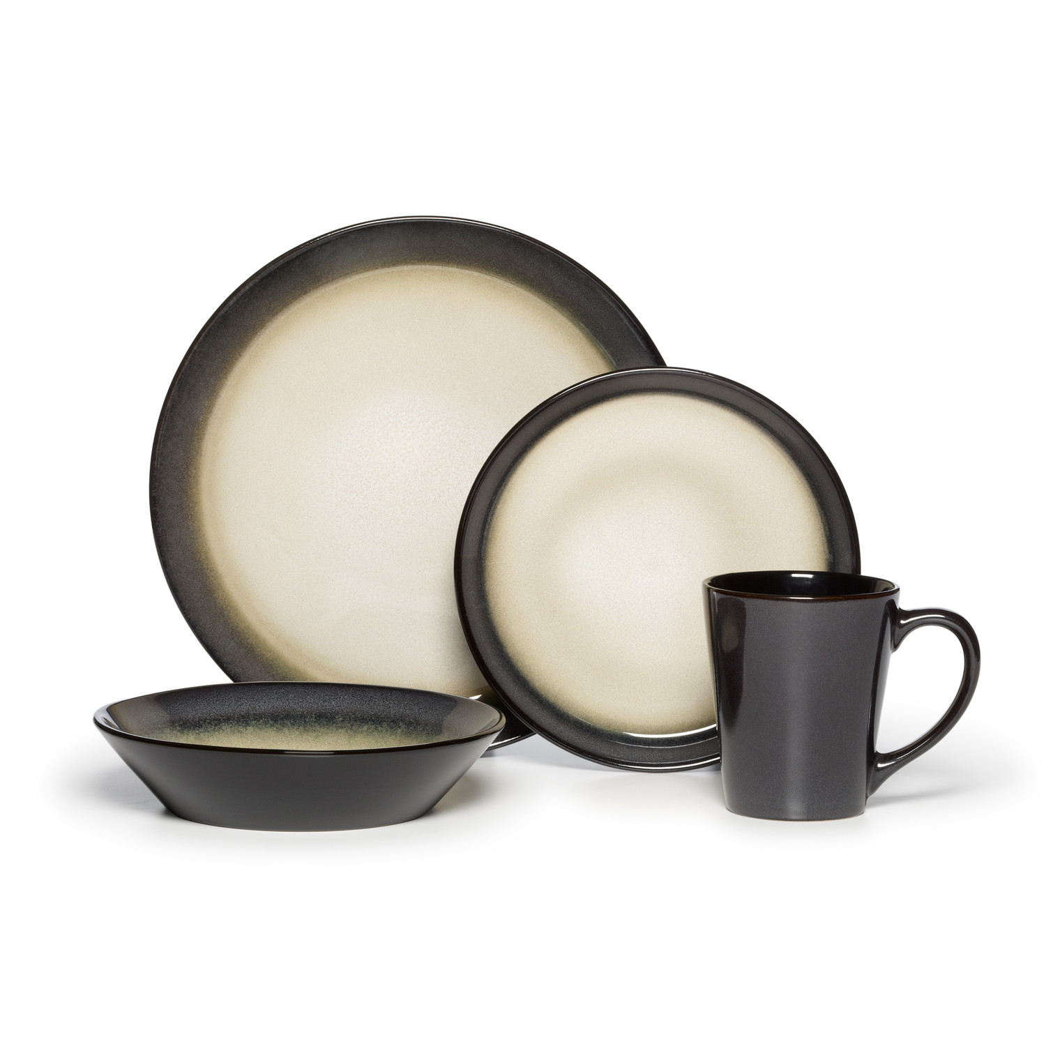 Pfaltzgraff Dinnerware set in black and white theme for chic dinnerware ideas