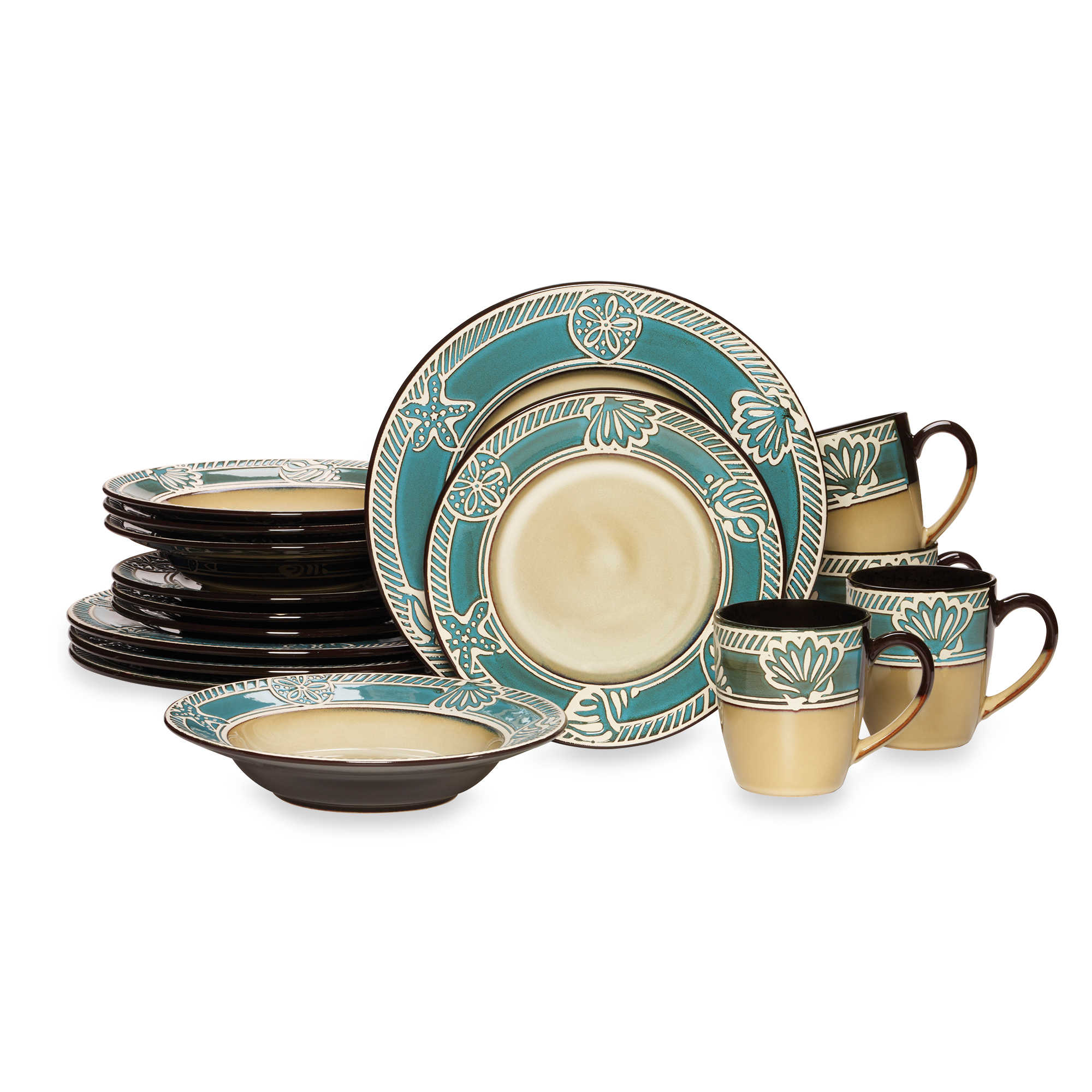 Pfaltzgraff Everyday Montego 16 Piece Dinnerware Set for lovely dinnerware ideas