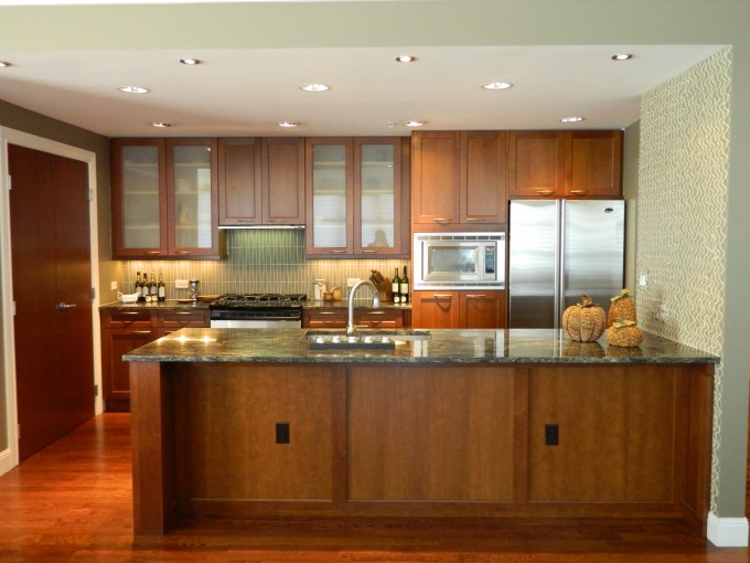 Pretty Brown Wooden Kitchen Cabinet With Wilsonart Laminate Countertops And Sink Plus Faucet For Kitchen Decor Ideas