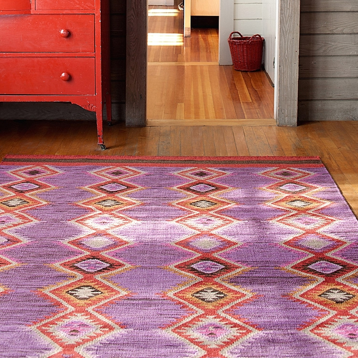 pretty Dash And Albert Rugs with fashionable design and purple nuance for floor decor ideas