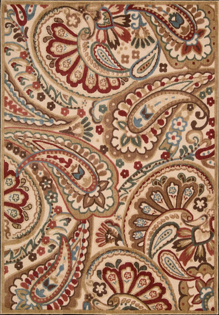 pretty graphic illusions transitional paisley light multi rug by nourison rugs for floor decor ideas
