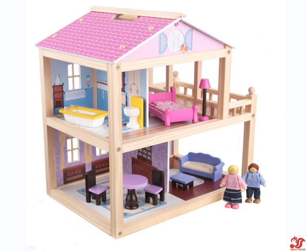 Decorating: Awesome Faux Bed On Kidkraft Dollhouse For Kids Toy Ideas