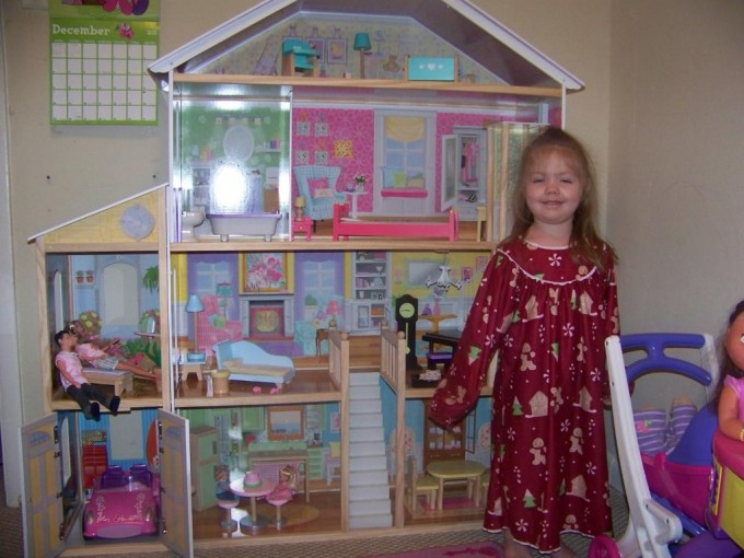 Pretty Kidkraft Majestic Mansion Dollhouse 65252 Made Of Wood Before The Beige Wall For Nursery Decor Ideas