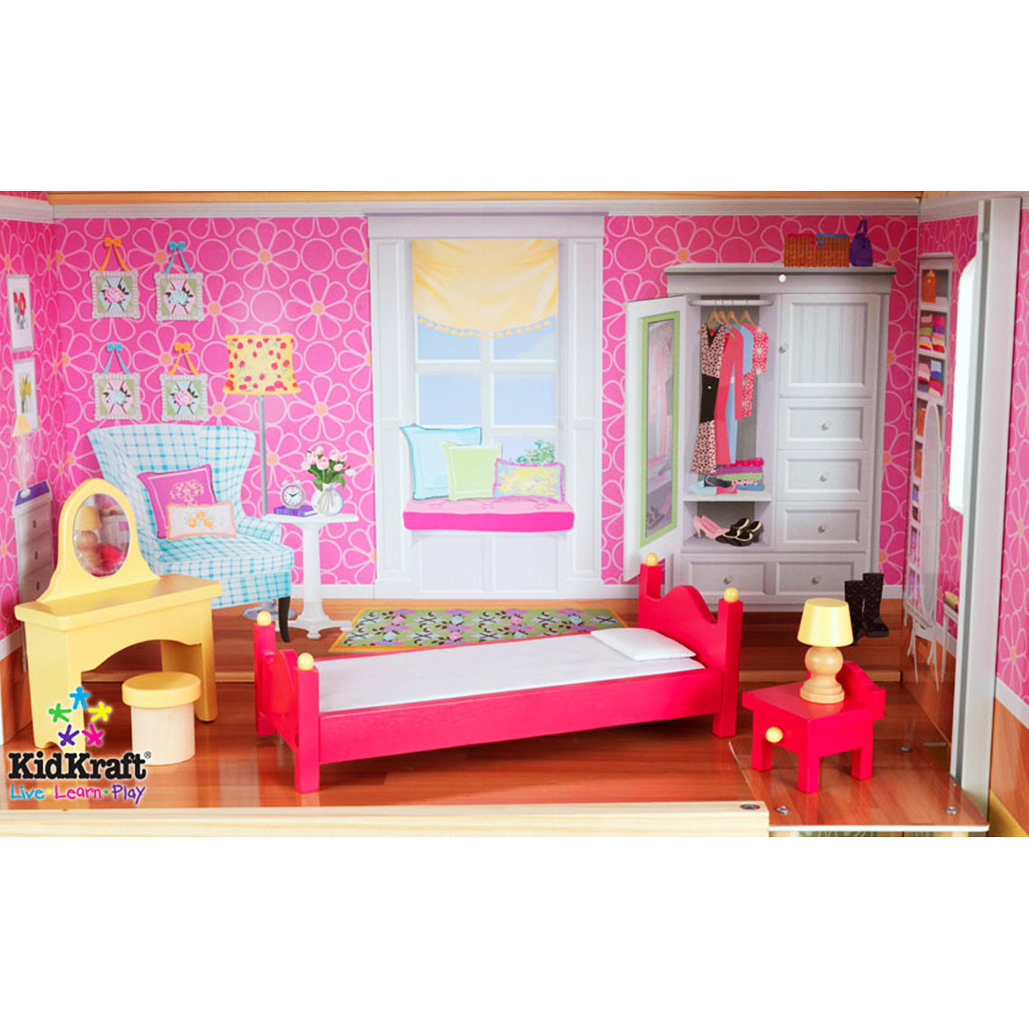 Pretty Kidkraft Majestic Mansion Dollhouse 65252 Made Of Wood In Pink Theme For Kids Room Furniture Ideas
