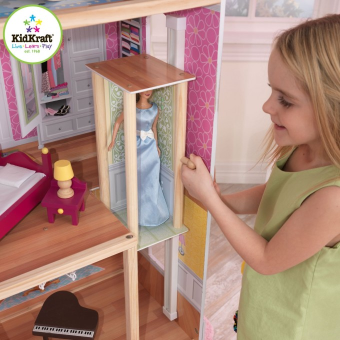 Pretty Kidkraft Majestic Mansion Dollhouse 65252 Made Of Wood With Barbie Doll For Kids Room Ideas
