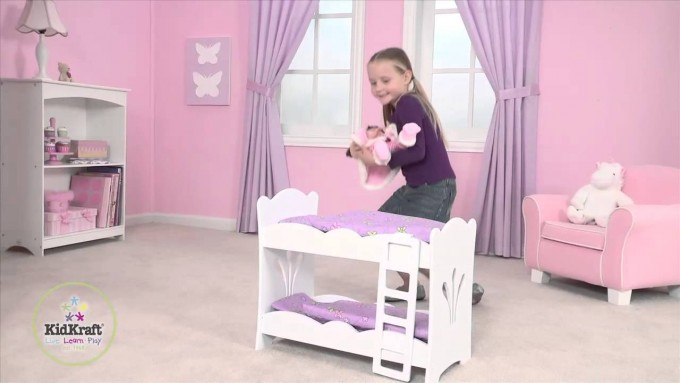 Pretty Kidkraft Majestic Mansion Dollhouse 65252 On Beige Rug Matched With Pink Wall With Purple Curtains For Kids Room Decor Ideas
