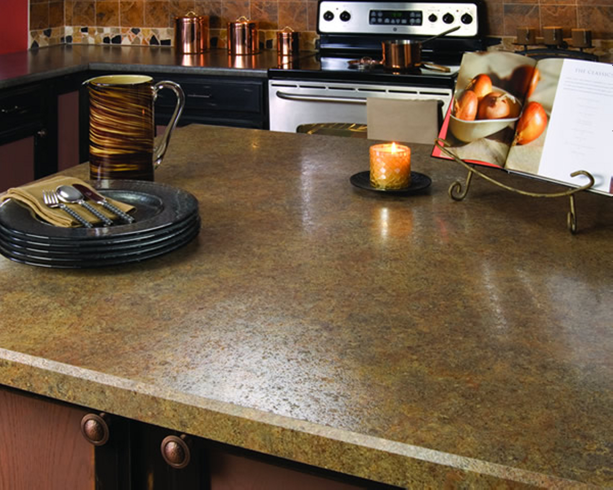Pretty Kitchen Island With Wilsonart Laminate Countertops For Kitchen Decor Ideas