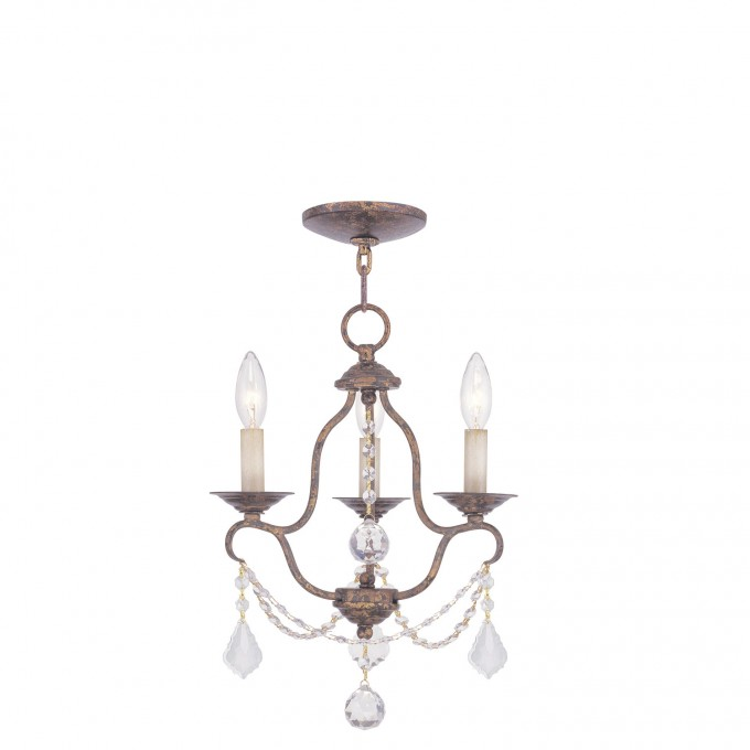 Pretty Livex Lighting Chesterfield 3 Light Mini Chandelier For Home Lighting Ideas