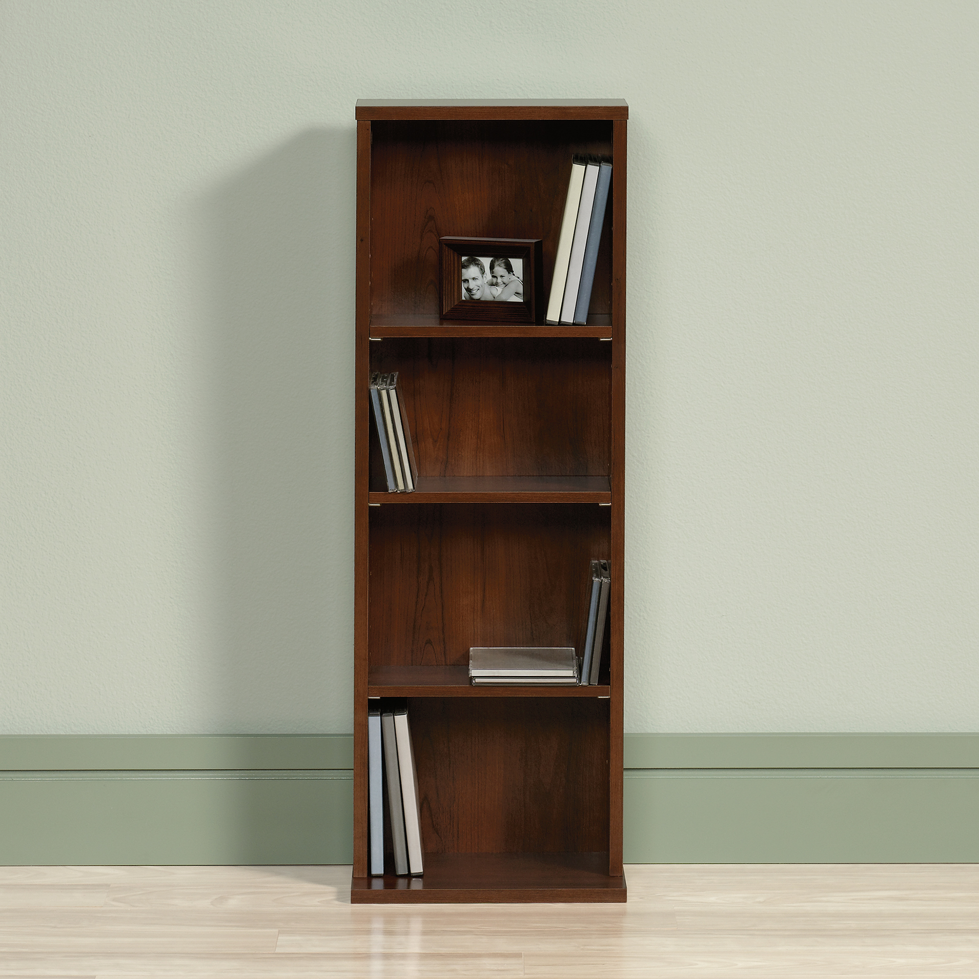 pretty wooden bookcase in brown by sauder furniture for home furniture ideas