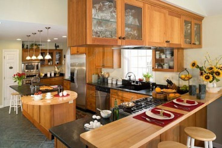 Pretty Wooden Kitchen Cabinet With Wilsonart Laminate Countertops And Stove Plus Sink For Kitchen Decor Ideas