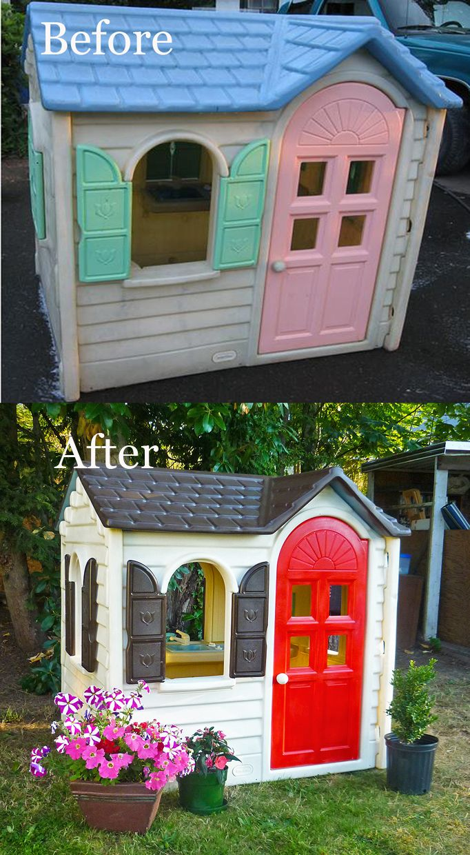 repaint your little tikes playhouse for more charming kids toy ideas