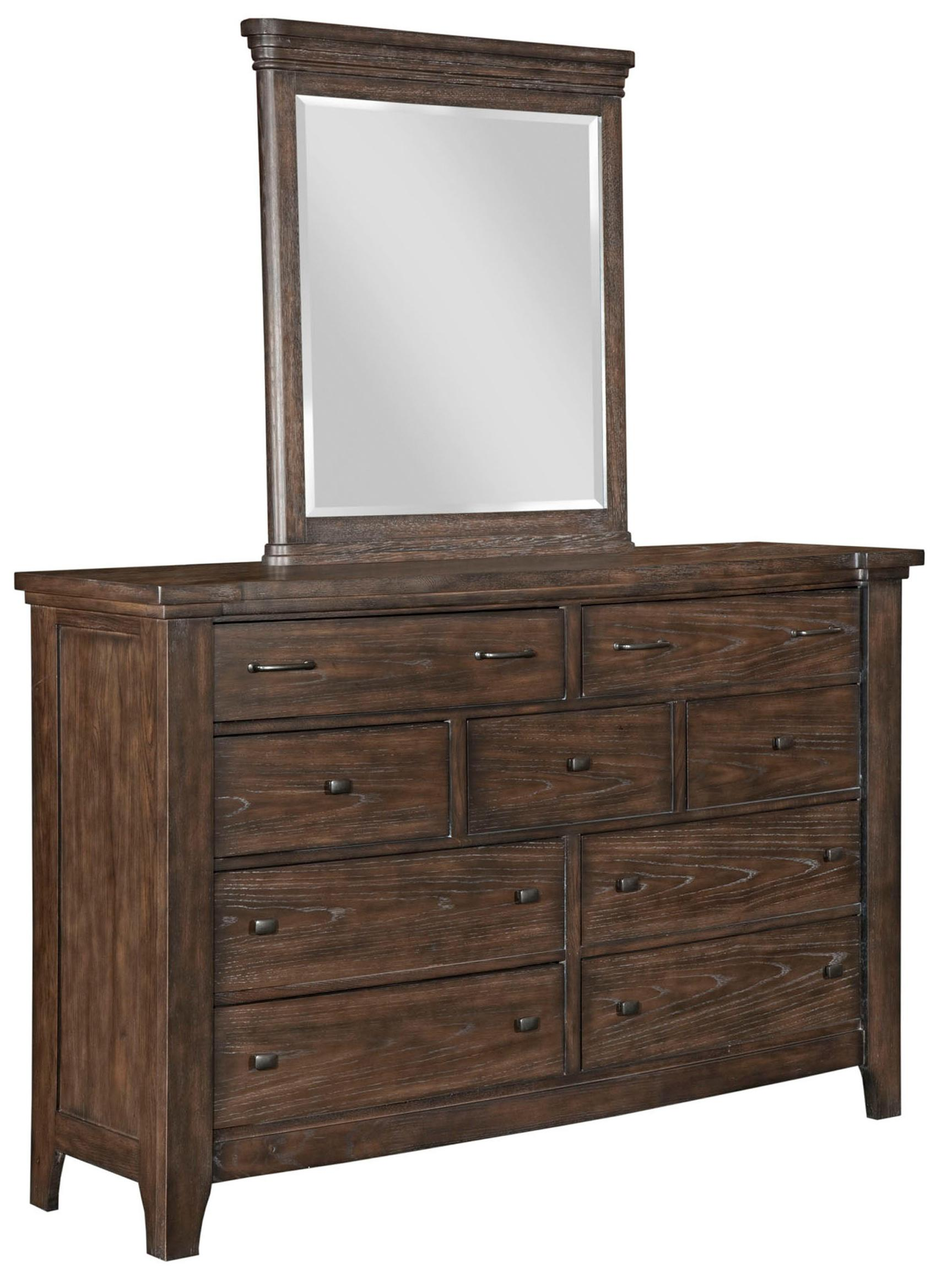 Rustic Dresser With Mirror By Broyhill Furniture For Home Furniture Ideas