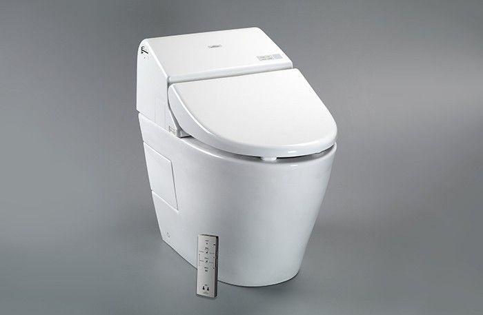 smart white toto washlet with remote for bathroom ideas