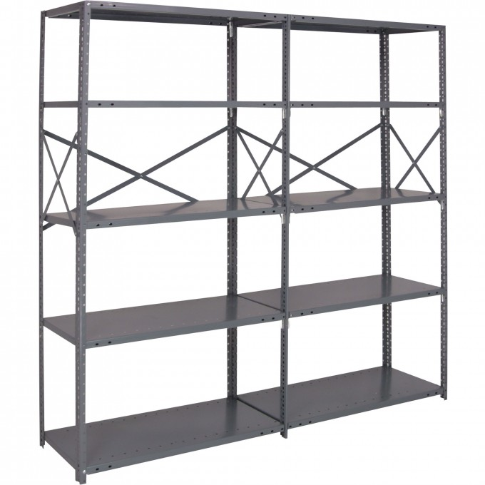 Strong Gray Edsal Shelving Made Of Steel For Garage Furniture Ideas
