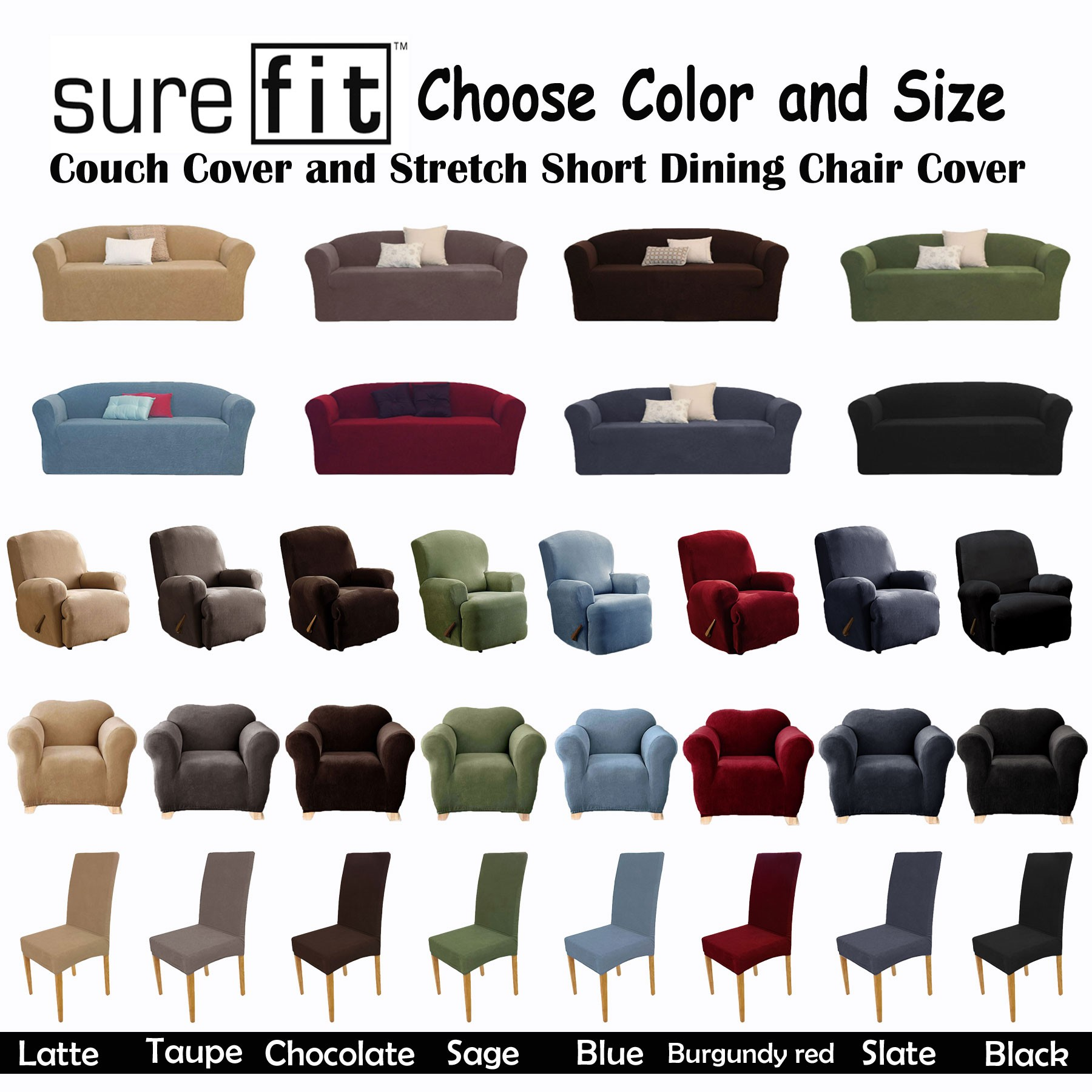 Surefit Chair Covers color options
