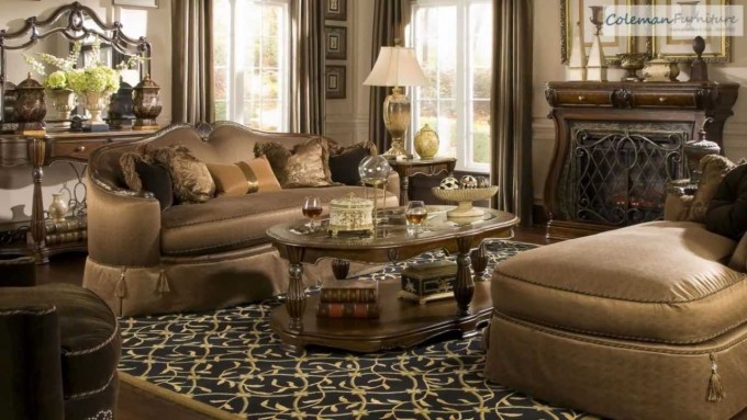 The Sovereign Living Room Collection From Aico Furniture
