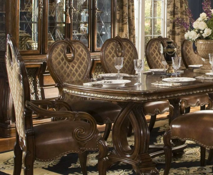 The Sovereign Rectangular Formal Dining Table By Aico Furniture For Dining Room Decor Ideas